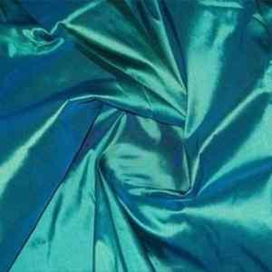 Vixen Green Teal Shot Silk Fabric