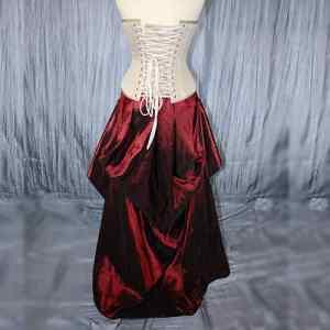 Vixen Red Tafetta Skirt Front with corset