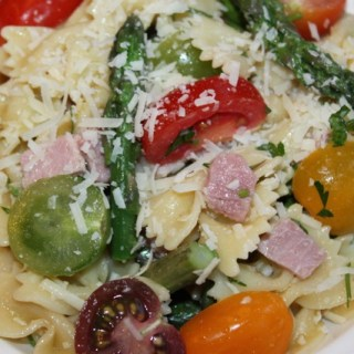 Heirloom Tomato, Asparagus, Bow Tie Pasta