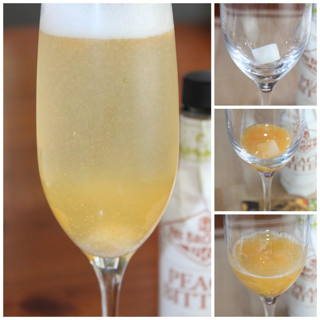 Triple Peach Champagne | www.vixenskitchen.com