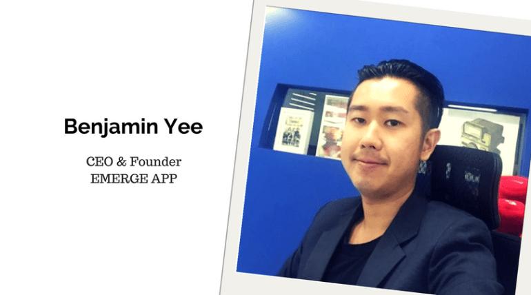 Benjamin Yee. ounder of EMERGE APP