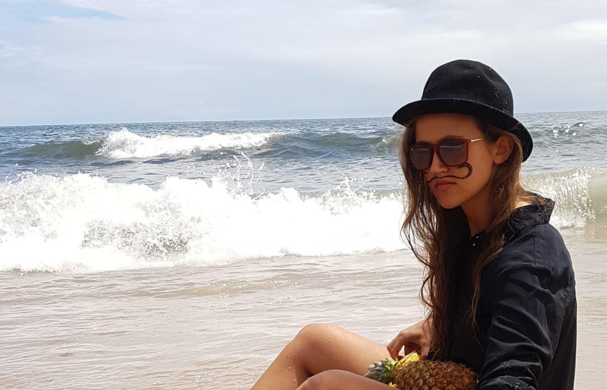herr nora at beach