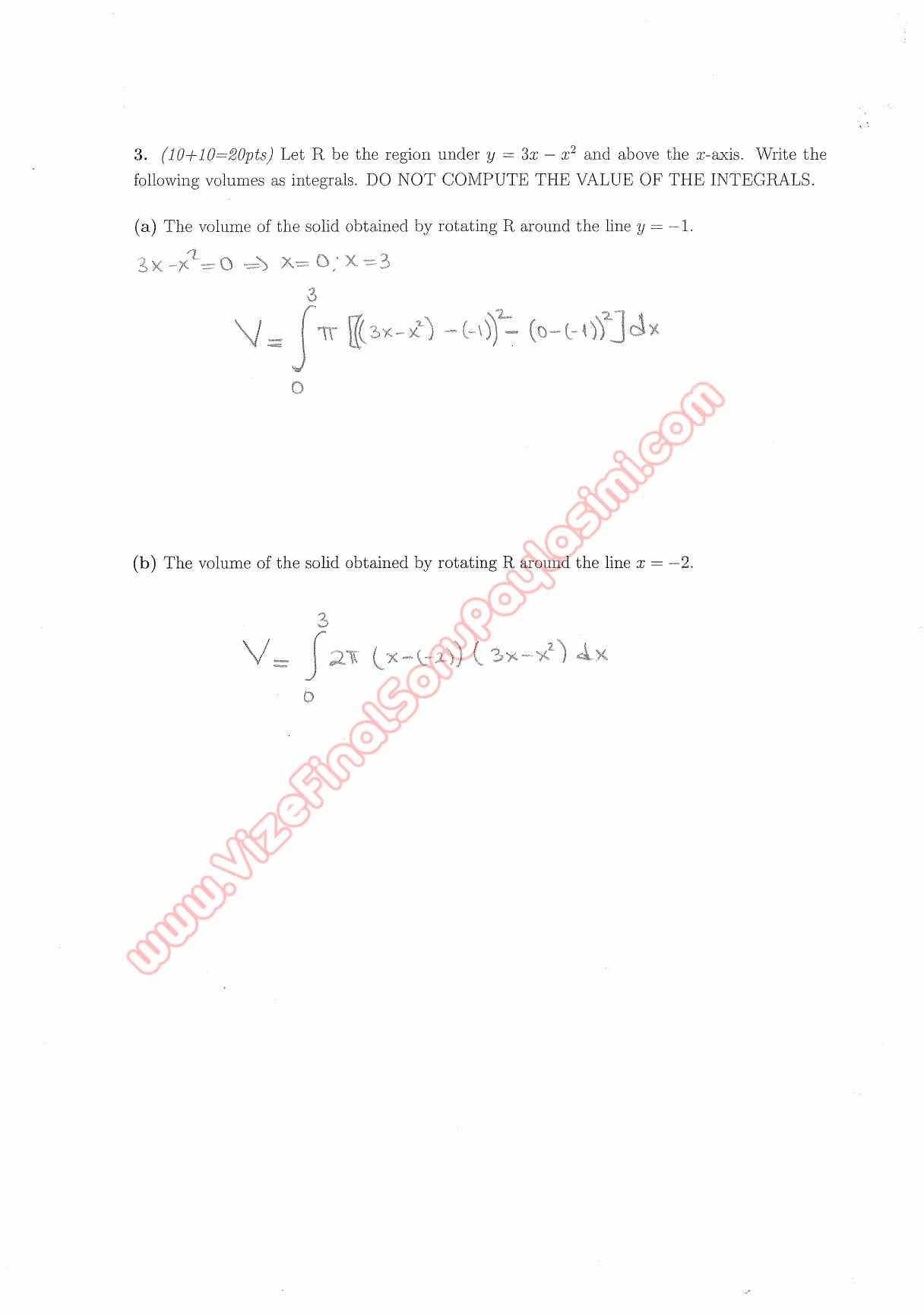 Calculus With Analytic Geometry Final Questions and