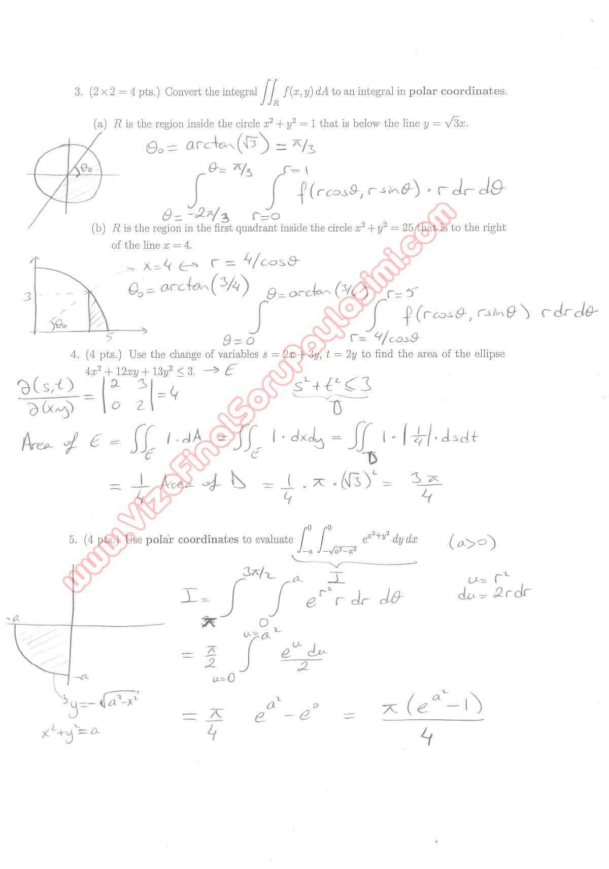 Calculus for Functions of Several Variables second short