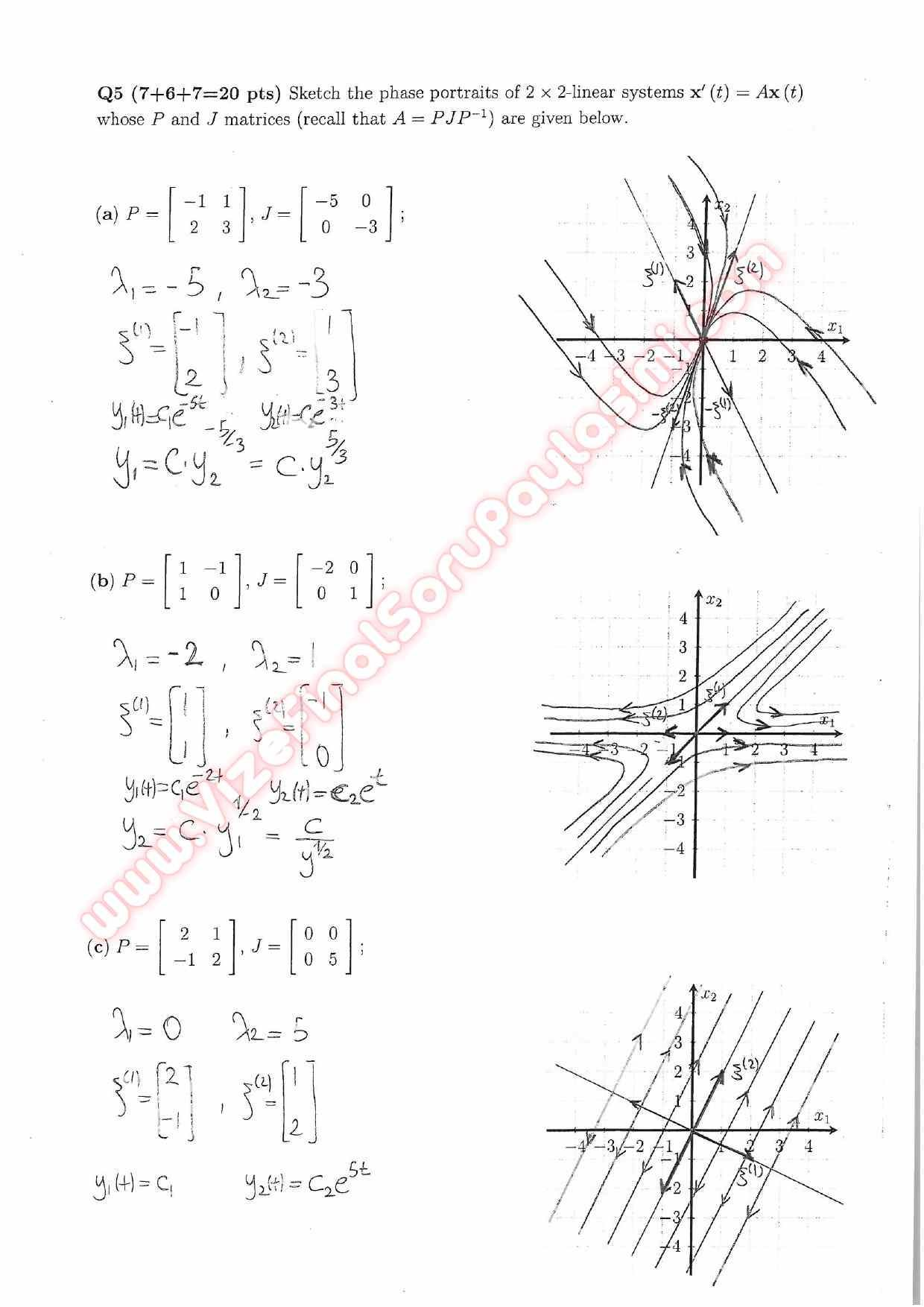 Differential Equations Midterm Exam Questions And