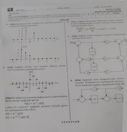 Sistem Teorisi Final 2018 Fırat Üni. Bilgisayar