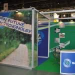 SIDERMA - Stand expozitional personalizat. Structura din aluminiu placata cu PAL / mobilier expozitional / grafica stand personalizata