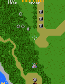 Play Xevious Namco Online Mame Game Rom Arcade Emulation Playable On Xevious Namco Mame