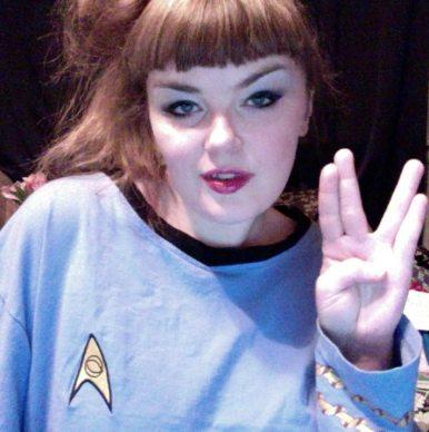 Carrie Gates as a Vulcan from Star Trek