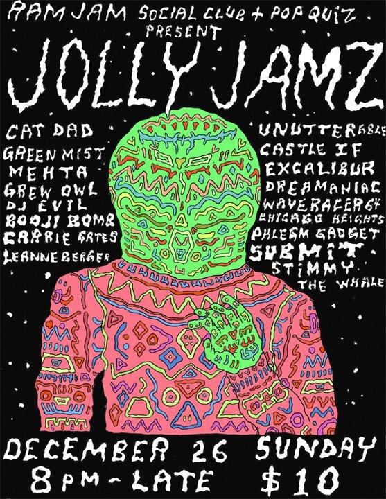 Jolly Jams - Boxing Day 2010 poster by Jon Vaughn
