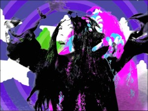 Video still of Shellvis as a wizard by Carrie Gates
