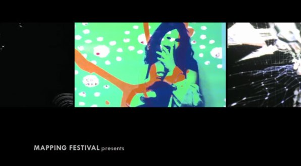 VJ Carrie Gates at the Mapping Festival VJ Competition, Geneva 2010