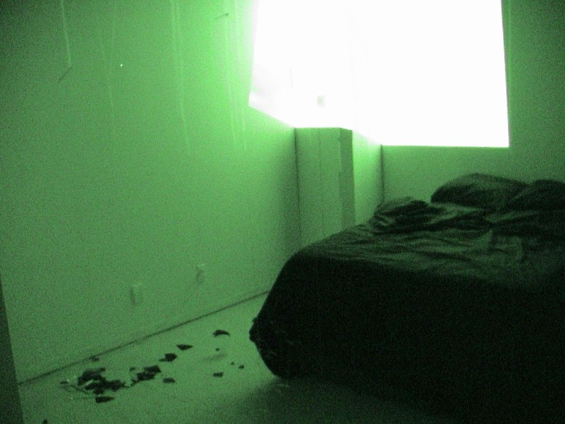 Carrie Gates installation at Paved, 2003