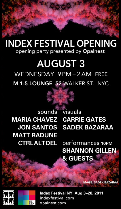INDEX Festival Opening Party - New York, Aug. 3. 2011