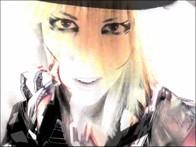 Video still of Sarah Adorable by VJ Carrie Gates