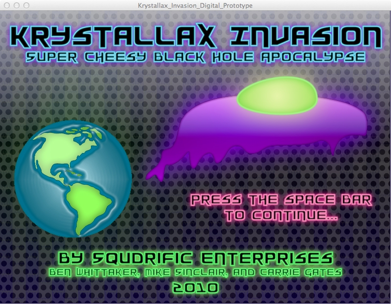 Krystallax Invasion - Game Screenshot