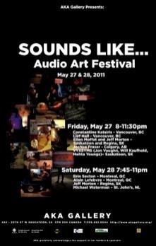 Sounds Like Audio Art Festival Promo 2012