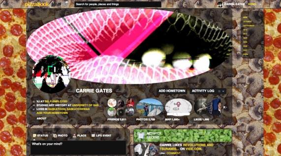 Pizzabook Facebook User Profile Screen Capture - November 2012