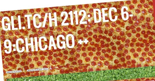 Pizzabook interface for the GLI.TC/H Festival 2013 in Chicago