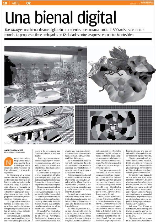 El Observator - The Wrong - New Digital Art Biennale