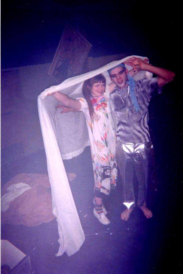Carrie Gates and Dr. J at a rave in Regina in 1997