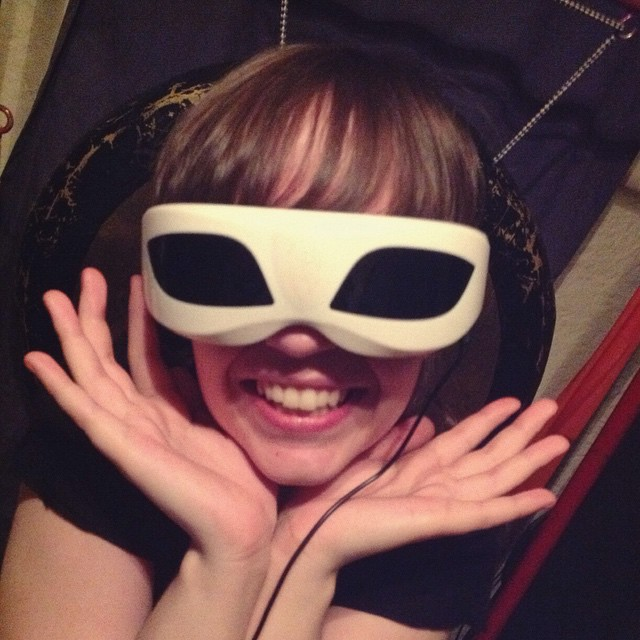 Sarah Marie Charters in Vibrating Goggles - Portrait by Carrie Gates 2015