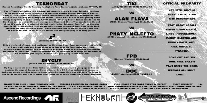 A NU HOPE - Flyer for Regina Rave 2006