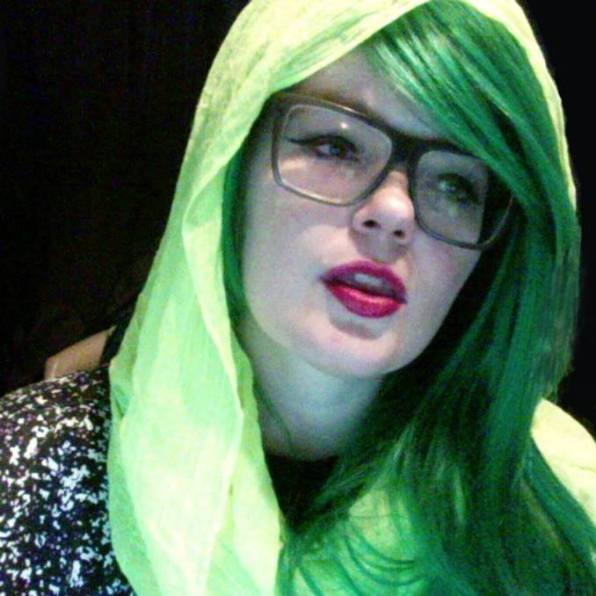 Carrie Gates in Acid Green