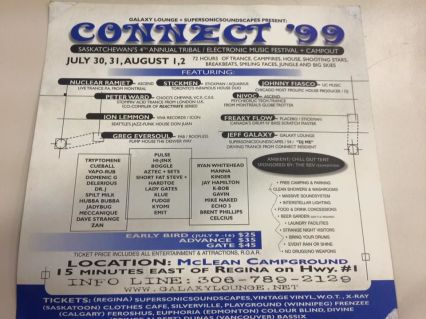 Connect Festival 1999 Flyer