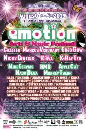 Emotion Music Festival 2019 - Full Lineup Poster