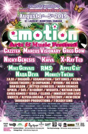 Emotion Music Festival 2019 - Full Lineup Poster