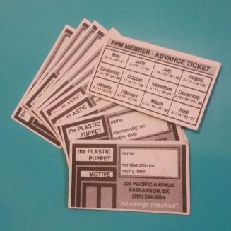 Plastic Puppet Motive (PPM) Vintage 90s Club Membership Cards