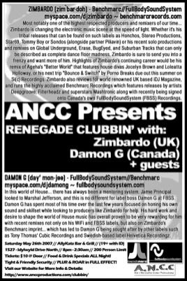 Renegade Clubbin' - Flyer for Regina Rave, 2007
