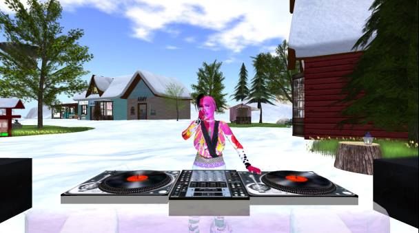 Rhiz Aeon DJing in Second Life