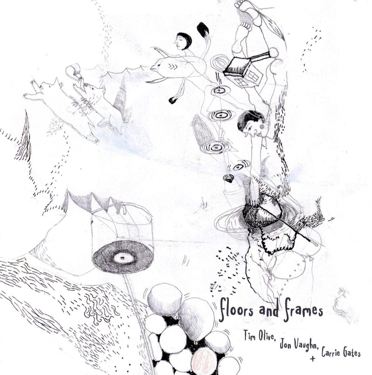 Floors and Frames - Tim Olive, Carrie Gates, and Jon Vaughn - BricoLodge Release 002 - Artwork by Tamara Bond