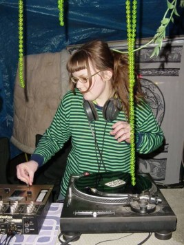 Carrie Gates DJing at CONNECT Festival 2003