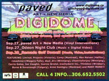 DIGIDOME Festival by PAVED Arts - Promo Handbill - September 2002