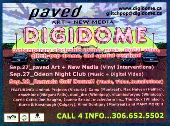 DIGIDOME Festival by PAVED Arts - Promo Handbill - September 2002