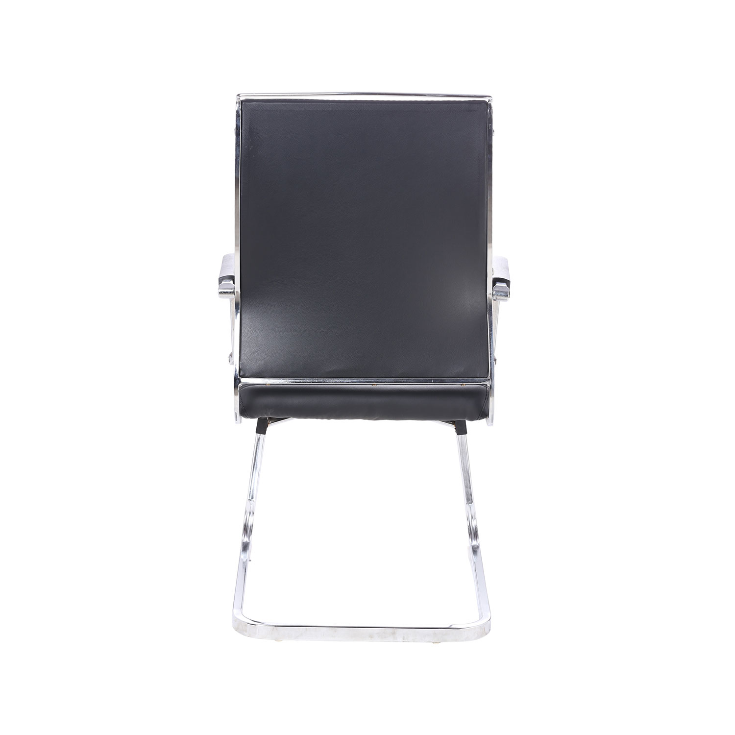 revolving chair bar stool parts names arrotrate medium back fix and in black leahterette - vj interior