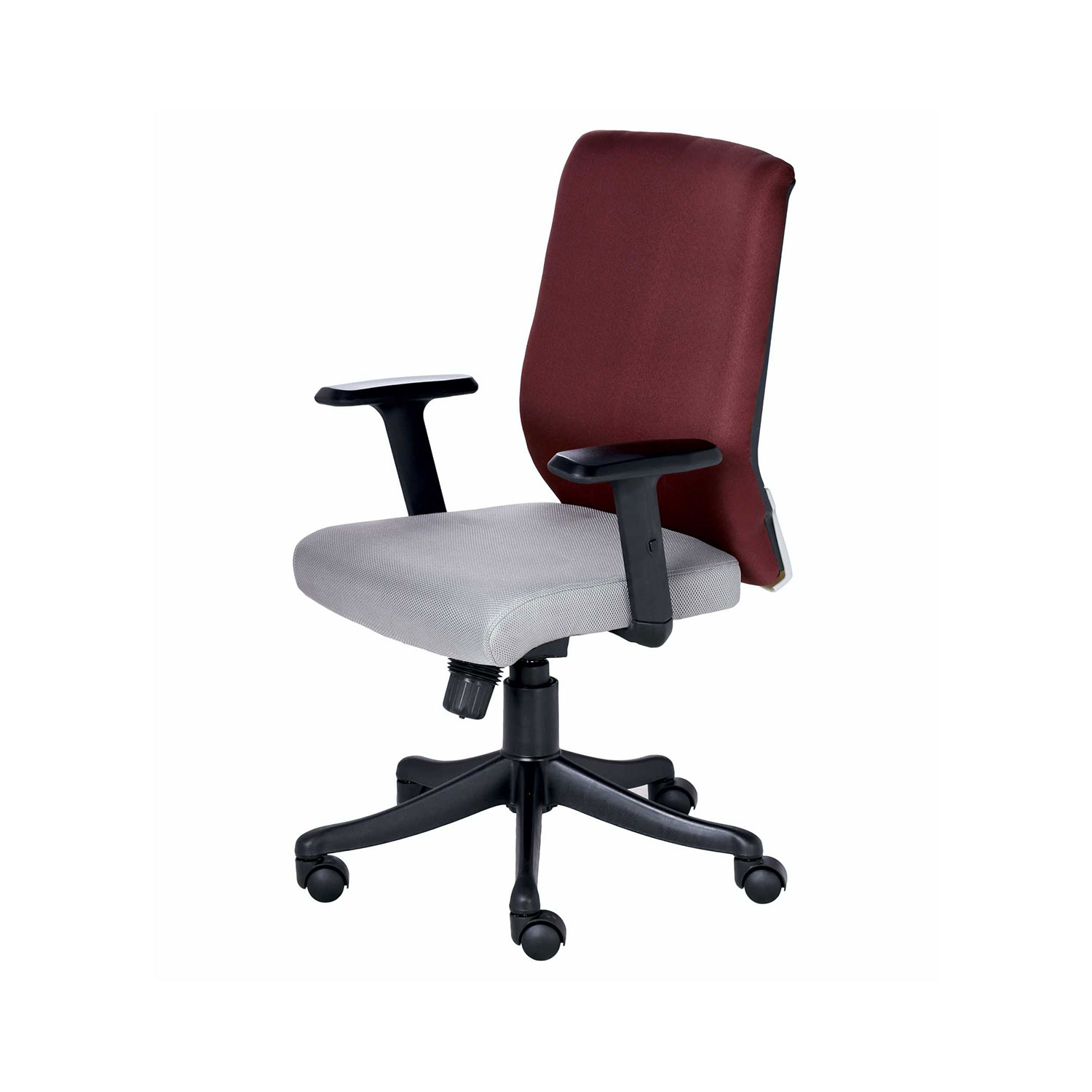 maroon office chairs drafting chair the nogris medium back in grey and color vj