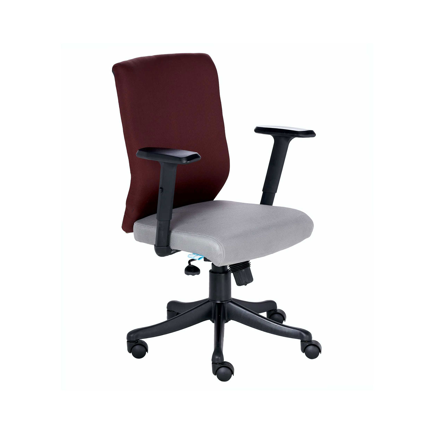 maroon office chairs vinyl mesh fabric for sling the nogris medium back chair in grey and color vj