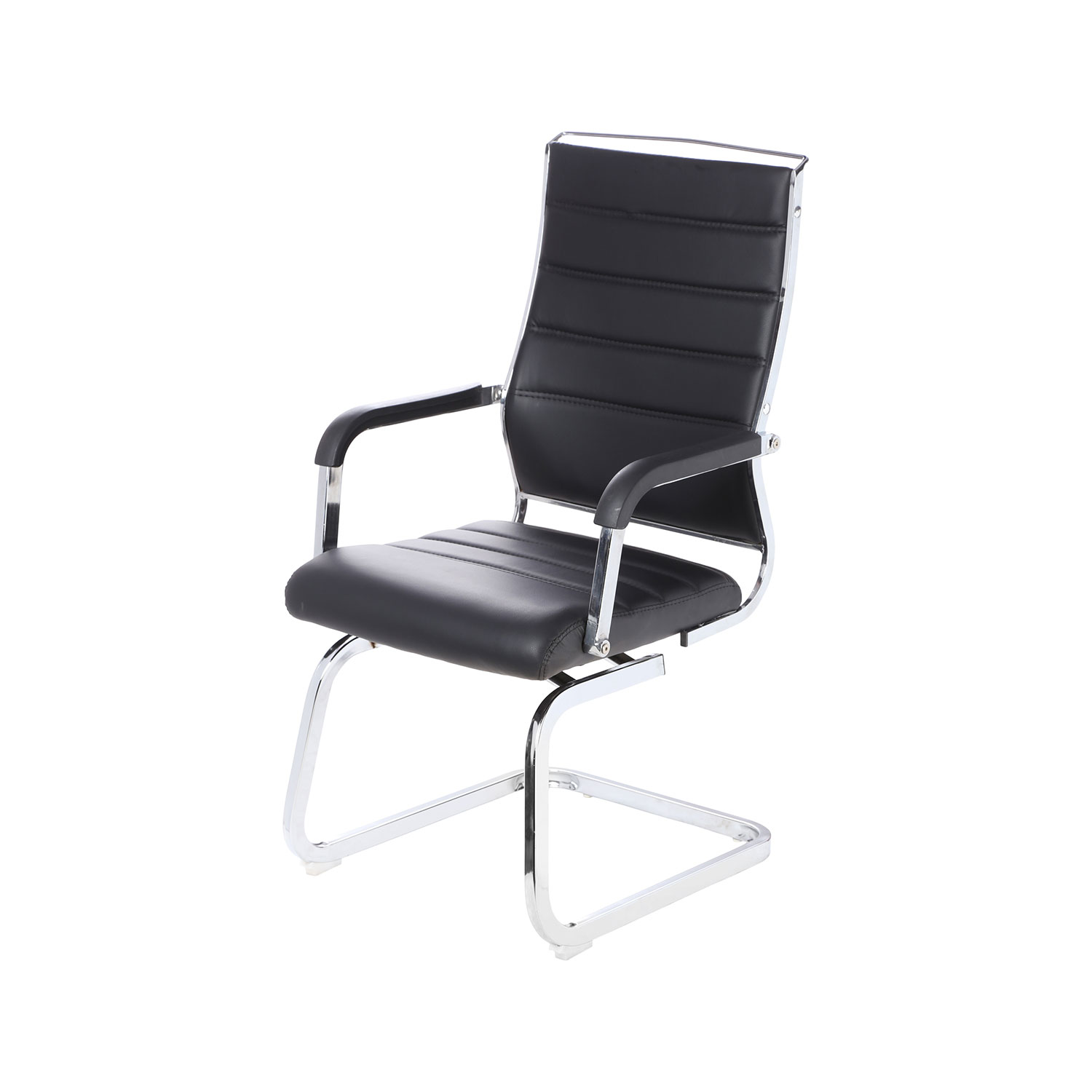 revolving chair and office high back arrotrate medium fix in black