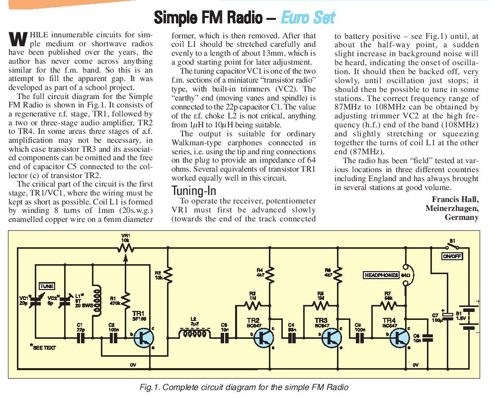 hight resolution of regenerative fm broadcast receiver