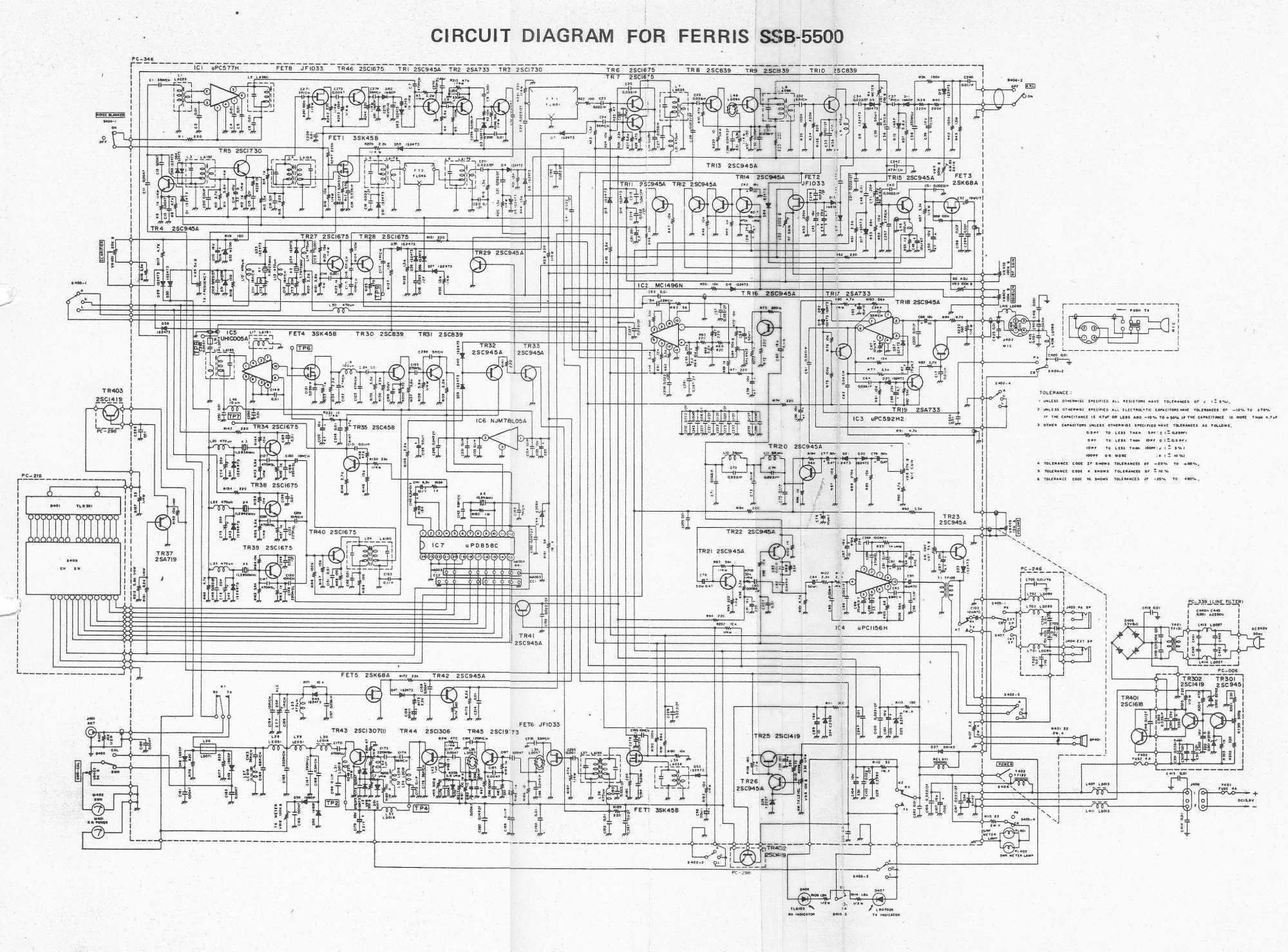 hight resolution of ferris ssb 5000 ssb schematic diagram