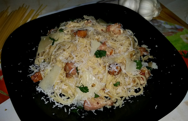"Моите ""Spaghetti alla Carbonara"""