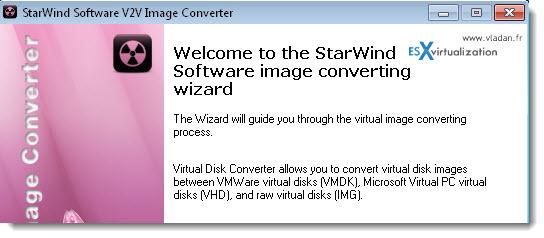Starwind V2V Converter - Free Tool to convert VHD to VMDK and vice versa
