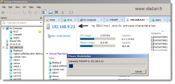VMware Workstation-8-drag-and-drop-uploading a VM to an ESX host