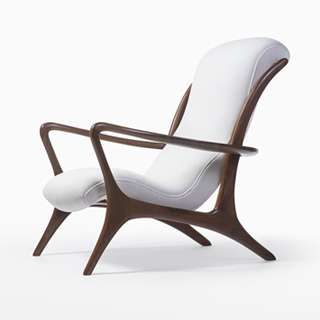 vladimir kagan rocking chair hand for sale chairs chaise longue contour high back lounge