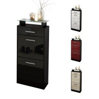shoe storage cabinet black