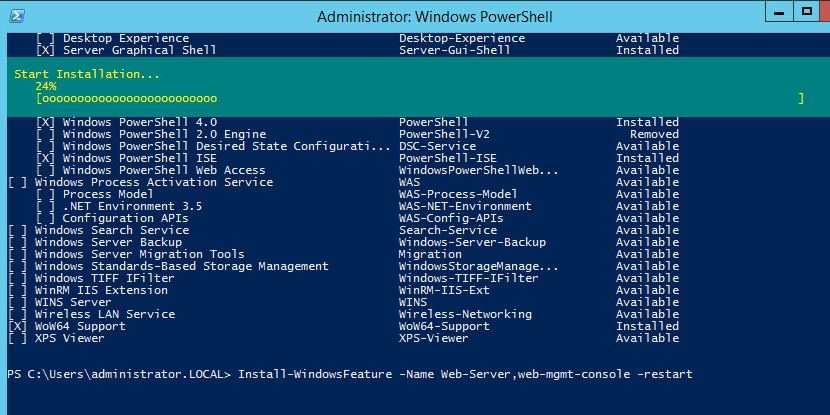 Deploying features and roles on remote servers using PowerShell